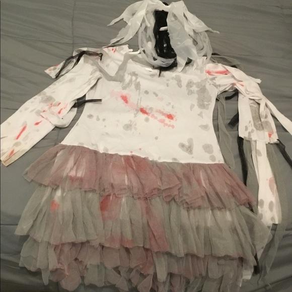 Spirit Halloween Costumes Girls Costume Zombie Bride Poshmark
